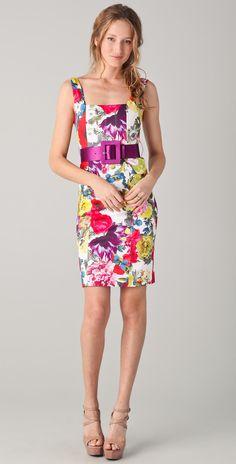 Alice + Olivia - Natalee Print Sheath Dress With Belt  on http://lolobu.com/o/3169