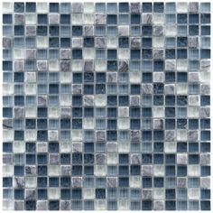 Perfect for updating a bathroom, this pack of glass and natural stone mosaic tiles adds a clean sleek look to walls. With multiple colors, these textured tiles create a multidimensional effect for a modern appearance that will impress guests.
