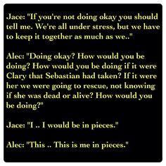 Jace Lightwood and Alec Lightwood (City of Heavenly Fire by Cassandra Clare ~ The Mortal Instruments book 6) Quote   HEART-WRENCHING!