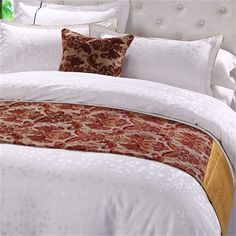 high-grade decorative cloth hotel bed runner, hotel bed cover