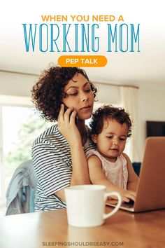 Do you feel guilty for working and struggle with balancing work and home? Here is your working mom pep talk to get you through the day. Mindful Parenting, Parenting Advice, Kids And Parenting, Working Mother, Working Moms, Feeling Stuck, How Are You Feeling, Family Bonding, Kids Behavior