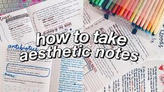 how to take aesthetic notes! how to take aesthetic notes! how to take aesthetic notes! how to tak Math Notes, Class Notes, School Notes, I School, Revision Notes, College Notes, College Bags, School Classroom, Pretty Notes