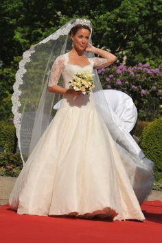 Princess Eugenie and Other Royal Wedding Dresses You Need To See The Best Royal Wedding Dresses of the Last 70 Years - Royal Wedding Gowns. Royal Wedding Gowns, Royal Weddings, Bridal Gowns, Wedding Dresses, Wedding Lace, Wedding Veils, Wedding Attire, Denmark Fashion, Princess Marie Of Denmark
