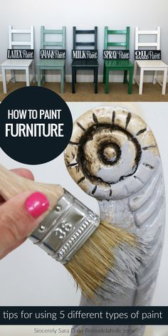 So many types of paint! Chalk paint or milk paint? Latex or oil paint? or spray paint? Learn to use all these types of paint for refinishing and updating furniture | Tips For Painting Furniture With Different Types Of Paint