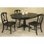 $1179.00  Broyhill - Color Cuisine 6 Piece Round Oval Pedestal Table Set in Ebony - BRH3964