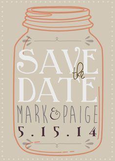 DIY Printable Mason Jar Save The Date