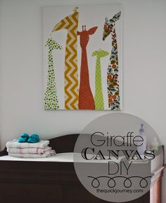 DIY | Giraffe Canvas- Easy, Cheap way to add a punch of color and texture!