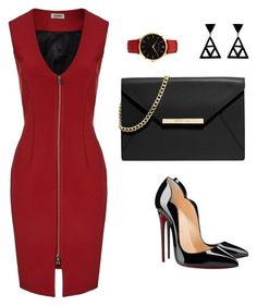 """""""Untitled #61"""" by dannyf ❤ liked on Polyvore featuring L'Agence, Christian Louboutin, Larsson & Jennings, MICHAEL Michael Kors and L'Artisan Créateur"""