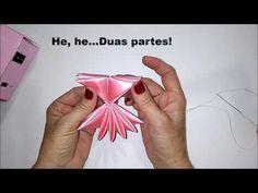 Como fazer laço mil faces invertido - Laço Camaleão da Luna Vagalume Criações. DIY - PAP Materiais: Fita de cetim 38 mm * 04 pedaços de 20 cm Cada. * 01 pedaço de 12 cm * 01 Pedacinho de manta de strass Curtam minha página no facebook. https: