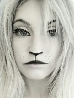 Fun with Make-up.  (Lion) inspired