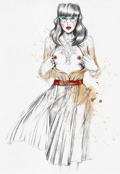 Die norwegische Illustratorin Esra Røisehabe ich euch hier schon mal vorgestellt. Da ging es um einen Werbespot, an dem sie mitgearbeitet hat. Hier nun einige sehr gelungene Arbeiten von ihr, die in eine etwas andere Richtung gehen. Sie zeigen diesmal kei