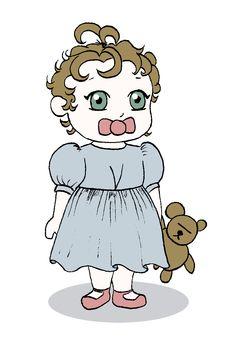 Les Chibis de Cléa & Roman - Baby fille avec sa robe [CLEA]