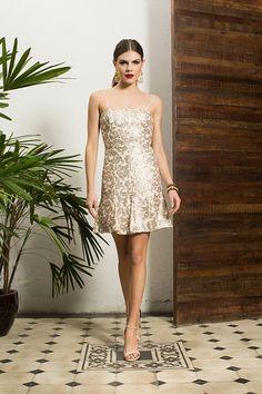 Vestido prata dourado mimo para passar o ano novo - Lookbook Alto Verão 15