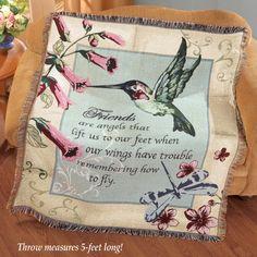 Friends Hummingbird Tapestry Throw Blanket