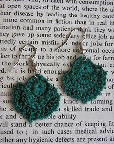 Lace Crochet Earrings ~ Free Pattern