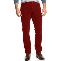 mens red corduroy pants