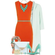 Joseph Sara Orange Crepe Dress