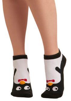 Kindred Soles Socks in Penguin, #ModCloth Price: $7.99