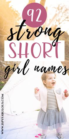 Short girl names are chic and sophisticated. This is… Short girl names are chic and sophisticated. This is the ultimate list of classic, strong and trendy single syllable names for girls. Short Baby Girl Names, Baby Girl Middle Names, List Of Girls Names, Girls Names Vintage, Modern Baby Names, Baby Girl Names Unique, Girl Names With Meaning, Cool Baby Names, Names Girl
