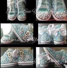 Disney Frozen Themed Custom Converse Shoes  Frozen Birthday