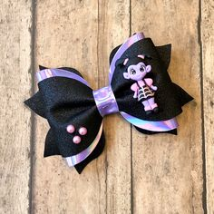Excited to share this item from my shop: Hair Bow, Faux Leather Hair Bow, Vampirina Glitter Ha Kids Hair Bows, Toddler Hair Bows, Baby Bows, Baby Headbands, Paw Patrol Decorations, Halloween Hair Bows, Leather Bow, Glitter Hair, Boutique Hair Bows
