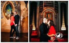 Meghan and Mike's gorgeous Engagement Photos at Disneyland and the California Adventure Park, check out the Beast's Library!- White Rabbit Photo Boutique