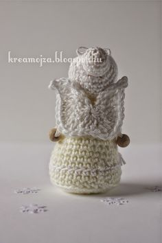 Kreamojza horgolt világa: KreaMojzás angyalka mintaleírása Crochet Angels, Crochet Hats, Crochet World, Hobbit, Crochet Patterns, Dolls, Knitting, Blog, Faeries