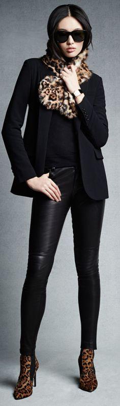 Ralph Lauren Stretch Leather Abbey Pant