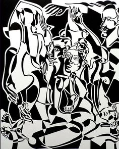 Return of Ulysses by Melissa Bates. Visit www.visualemporium.com.au to see more of Melissa's art. #art #artist #abstract #nudes #figures #cubism #creative #expression