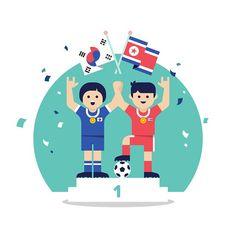 3•1절 기념 1978년 방콕아시안 게임 남북 축구 공동우승 #삼일절#meanimize#graphic#design#illustration