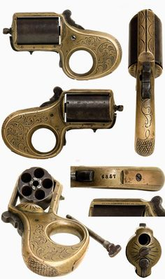 James Reid Knuckle-Duster Revolver WITH SAFETY ... The Reid knuckleduster is just the right weapon for a bar room brawl or a poker game gone wrong. These .22 caliber brass frame revolvers carry five shots and the solid frame and trigger guard form a set of brass knuckles, ca. 1868-1888, USA .