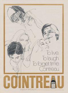 1970 Cointreau Liqueur Ad Retro Illustrated by AdVintageCom