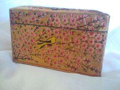 Vintage Playing Card Storage Box, Japanese style