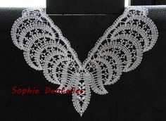 Crochet Lace Collar, Lace Heart, Lace Jewelry, Tatting Lace, Freeform Crochet, Lace Making, Bobbin Lace, Lace Detail, Crochet Earrings
