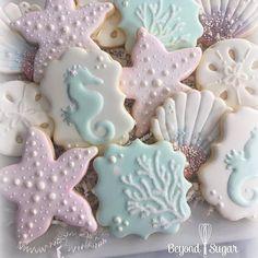 """Mermaid cookies  by (@mermaidinspiration) on Instagram: """"Mermaid Christmas cookies @beyondsugar  #mermaidinspiration #mermaid"""""""