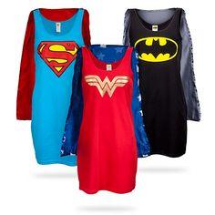 ThinkGeek :: Superheroine Sleep Tank Tops