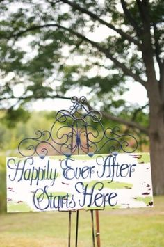 This is a cute sign - a good way to tie in the Beauty and the Beast theme without slapping people in the face with it.