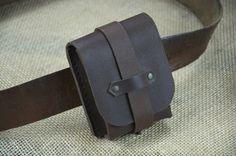 Belt Pouch Leather 100% Ranger Vintage Genuine Handmade Brown Waist Bag Unique