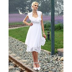 c01808daf8 Lanting Bride Sheath Column Petite   Plus Sizes Wedding Dress Knee-length  Halter