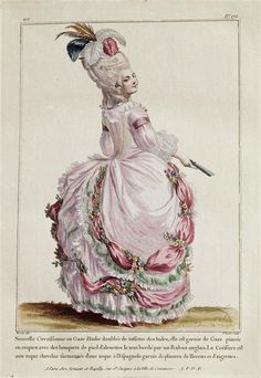 French fashion plate, late 1770s-1780s