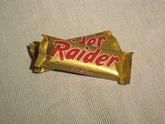 Raider Schokoriegel der Mars Inc. Marketing Akrtion 2009 / Raider candy bar from the Mars Inc.