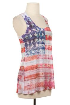 American Flag Tank Top Shirt TShirt Size S  M  by LemniscateAddict, $15.99