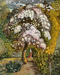 "Samuel Palmer, ""Garden in Shoreham,"" India Ink with Watercolor and Gouache, ca. 1829."