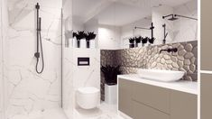 Elegancka łazienka w apartamencie. - Double Vanity, Bathtub, Bathroom, Standing Bath, Washroom, Bath Tub, Bathrooms, Bathtubs, Bath