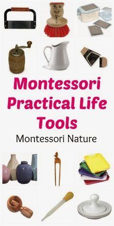 practical life materials for montessori classroom and home (Montessori nature blog)