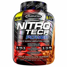 shake to gain muscle strength Nitrotech Power Whey Protein Powder with Whey Isolate, Ultimate Muscle Building Protein Blend, Triple Chocolate Supreme, 40 Servings Size: lbs, Pink Protein Blend, Whey Protein Powder, Whey Protein Isolate, Protein To Build Muscle, Muscle Protein, Protein Power, Nitro Tech, Creatine Monohydrate, Teak