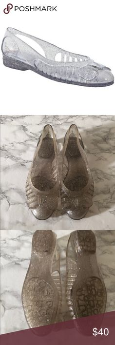 1ed8a2afd546 Ferragamo Clear Spiffy Jelly Flats In good condition - color has changed a  bit due to