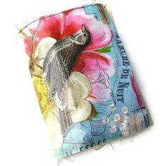 Handmade Art Journal  fabric covered Scrap by ArjatisDaughter