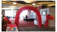 AMAZING dragon balloon arch for the entry! Great decoration idea for Chinese new year, open days or...