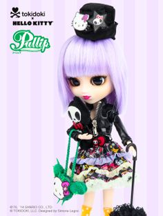Introducing tokidoki x #HelloKittyPullip. Street/Punk styling and accessories - she totally rocks!